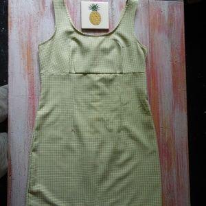 Retro Lisa Jo Empire Waist Gingham Sheath Dress